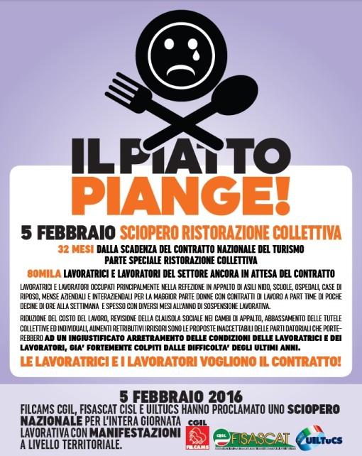 sciopero ristorazione mense 5 eb 2016